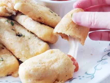 Keto pizza sticks. delicious and yummy!