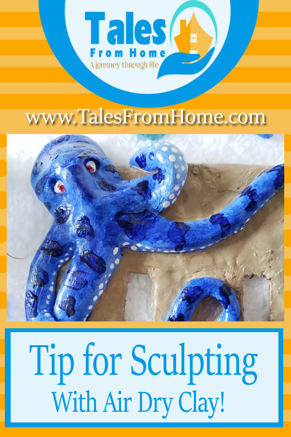 Tips for sculpting with Air Dry clay from a total beginner! #clay #artsandcrafts #crafts #airdryclay #sculpting #sculpt #DIY #DIYdecor #funprojects
