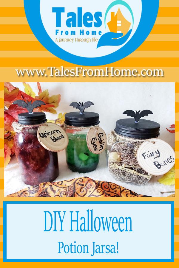 DIY Halloween Potion Jars! Simple & FunDecor! #Halloween #halloweencraft #halloweenfun #halloweendecor #fall #spooky #spookydecor #family #kids #Holiday