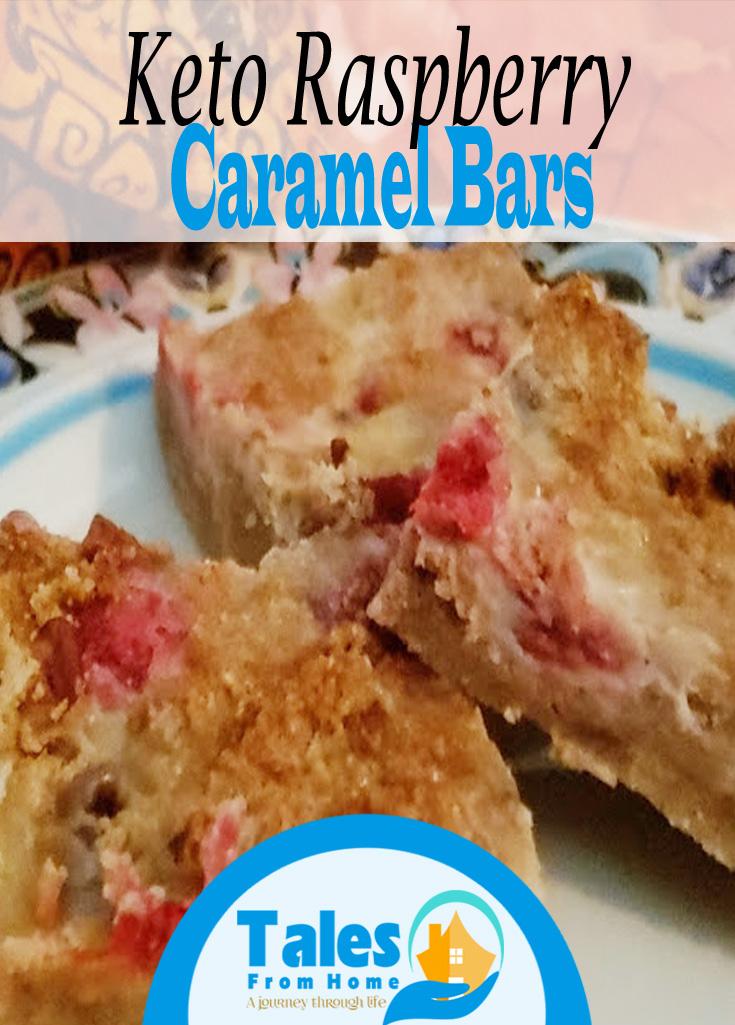 Keto Raspberry Caramel Bars, A Delicious treat for Everyone! #Keto #ketogenic #Ketorecipe #Ketotreat #ketodessert #recipe #dessert #raspberry #caramel