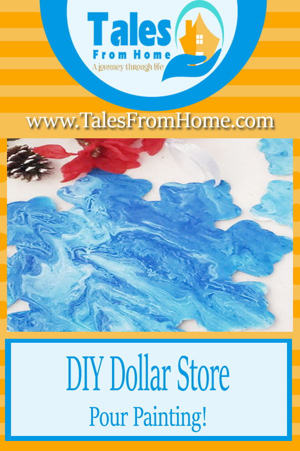 DIY Dollar Store Pour Painting #diy #dollarstore #dollartree #painting #chistmas