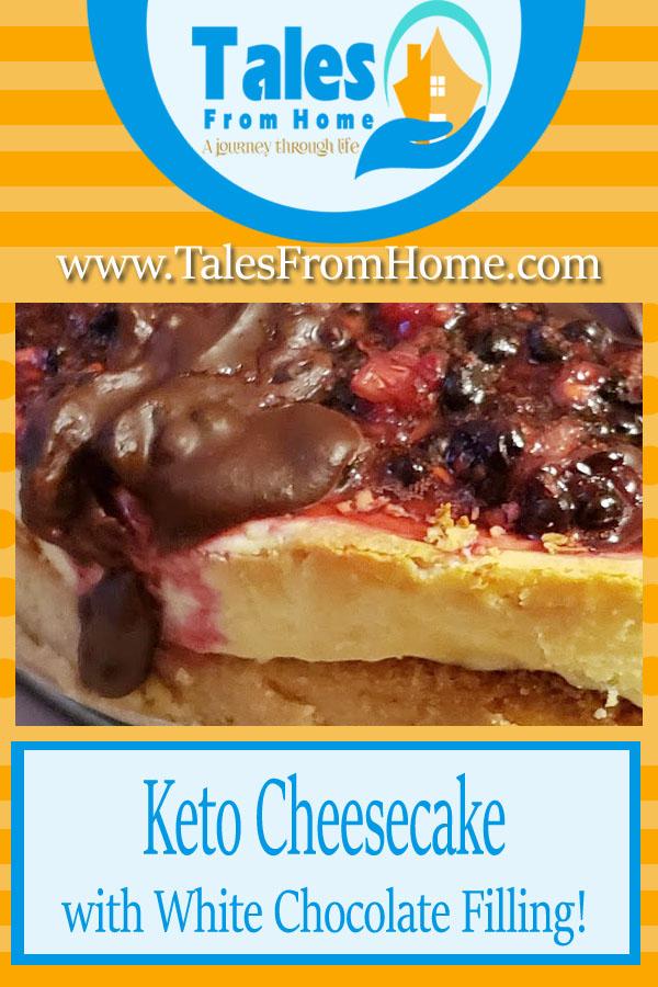 Keto cheesecake with White Chocolate Filling #Keto #ketodessets #ketorecipes #ketogenic #lchf #lowcarb #cheesecake #ketosis