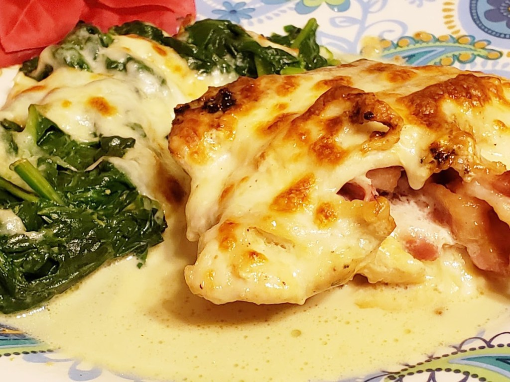 keto stuffed chicken breast with spinach