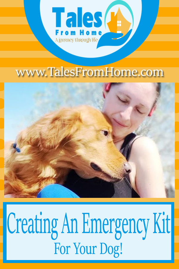 Creating an at-home Emergency Kit for your Dog! #emergencykit #prepparation #prepper #dog #pets #family #organization