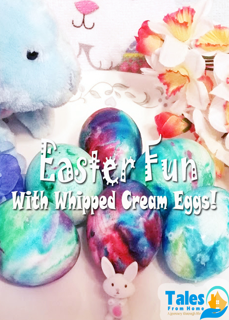 Have some fun this Easter with Whipped Cream Eggs! #Easter #coloredeggs #dyeingeggs #eastereggs #family #kids #whippedcreameggs #easterfun #eastereggfun
