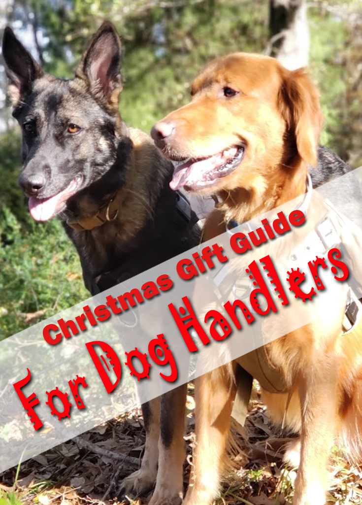 Christmas Gift Ideas for Dogs Lovers and those who enjoy sharing the outdoors with their pets! #dogs #familypets #pets #doggear #dogharnesses #workingdogs