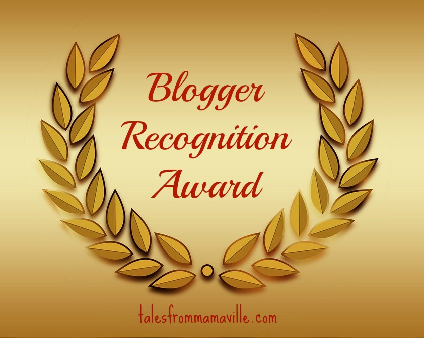 Blogger Recognition Award – Thank you!!!