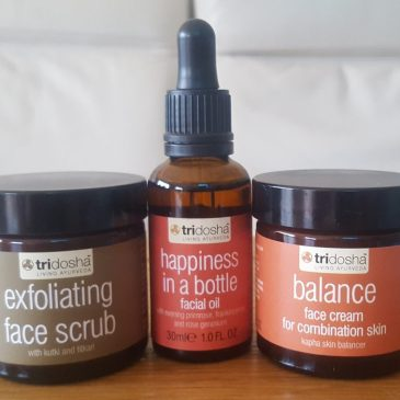 3-step natural facial skincare routine with Tri-dosha – Review
