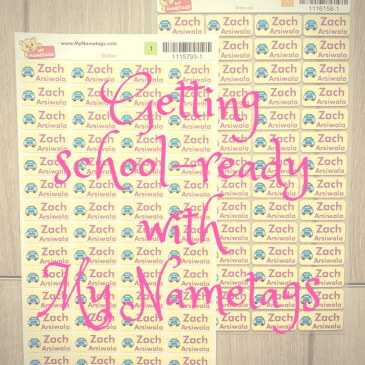 Getting school-ready with My NameTags: Review plus Giveaway
