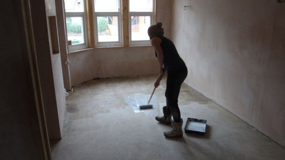 sealing the floor with PVA