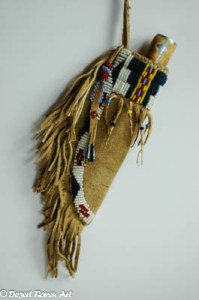mountain man rendezvous,beaded knife sheath