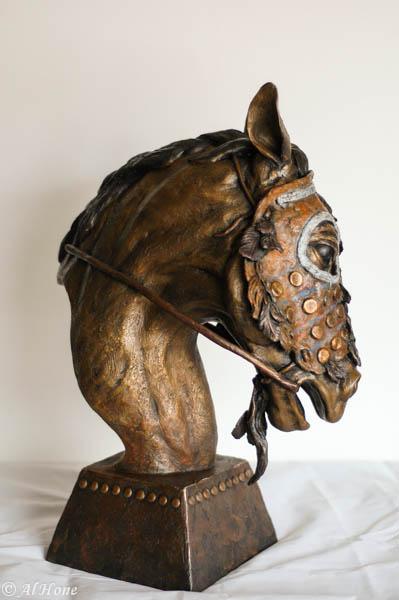 shop dog report.sculpture,horse mask