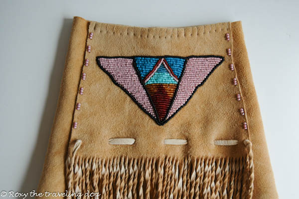 beaded dog jacket,beadwork