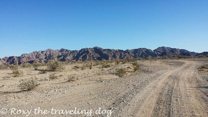 Boondocking near Yuma on the Ogilby road