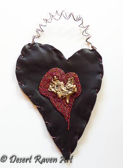 Beaded heart, Artsy Fartsy Tuesday