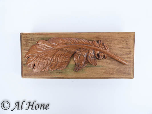 Carved wood feather and box, Artsy Fartsy Tuesday