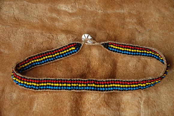Black stripe Roxy necklace