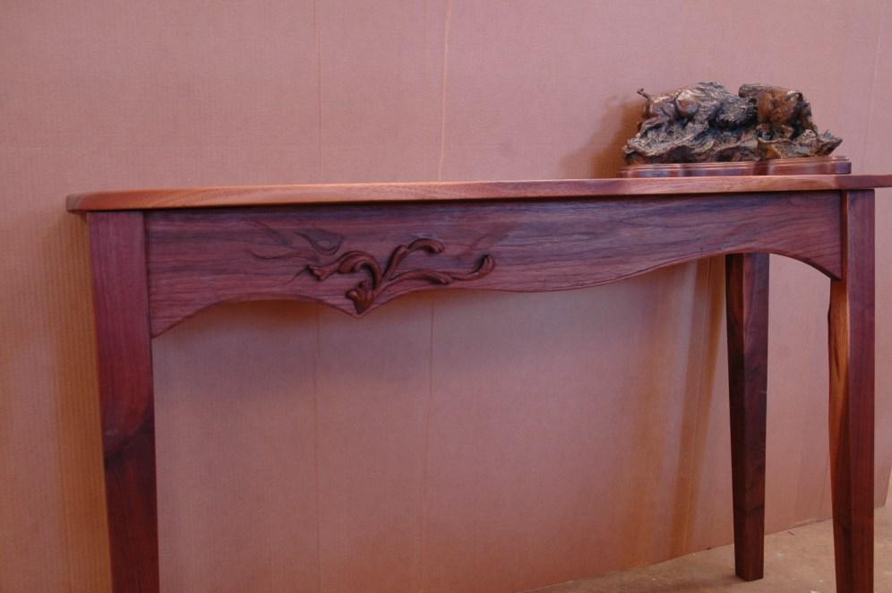 Solid walnut table