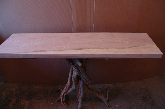 Cherry and juniper table