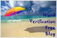 word verification free blog