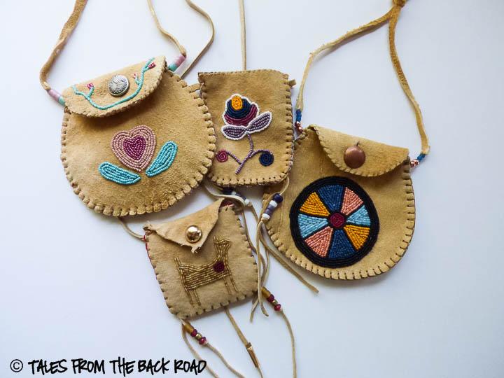 An assortment of beadwork