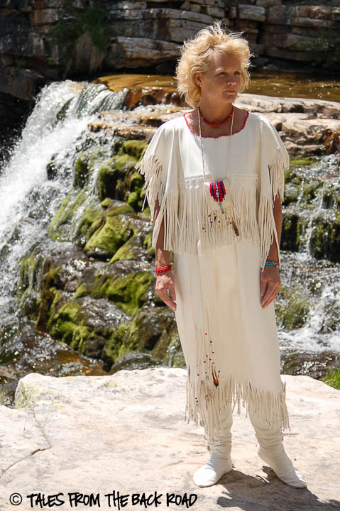 White buckskin wedding dress