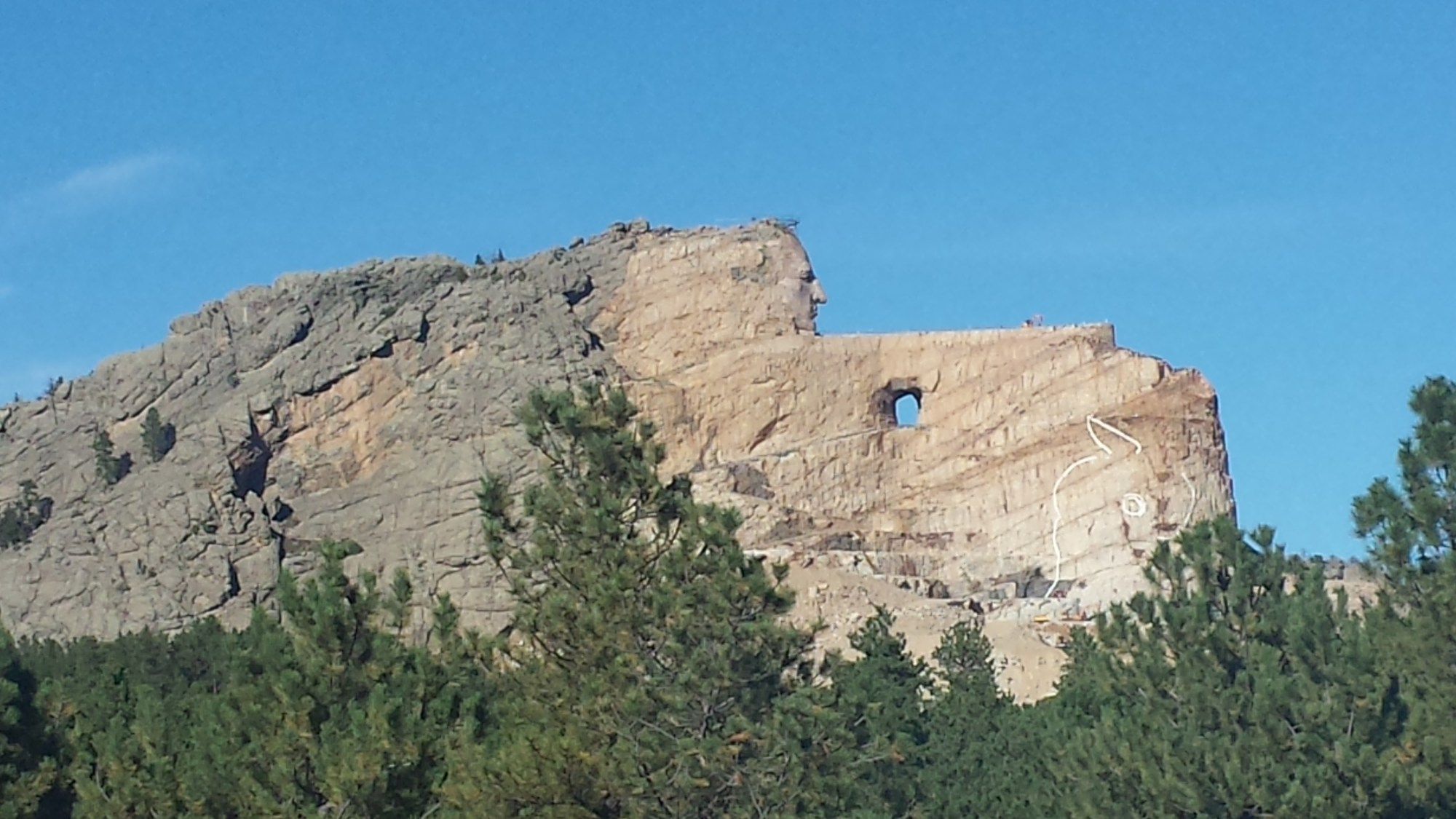 All the beautiful places. Crazy Horse memorial