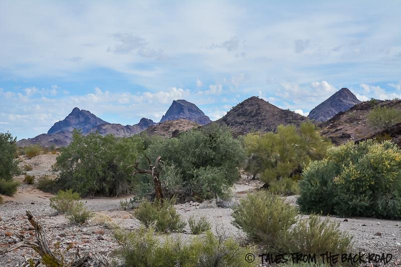 Desert mountains Quartzsite Arizona