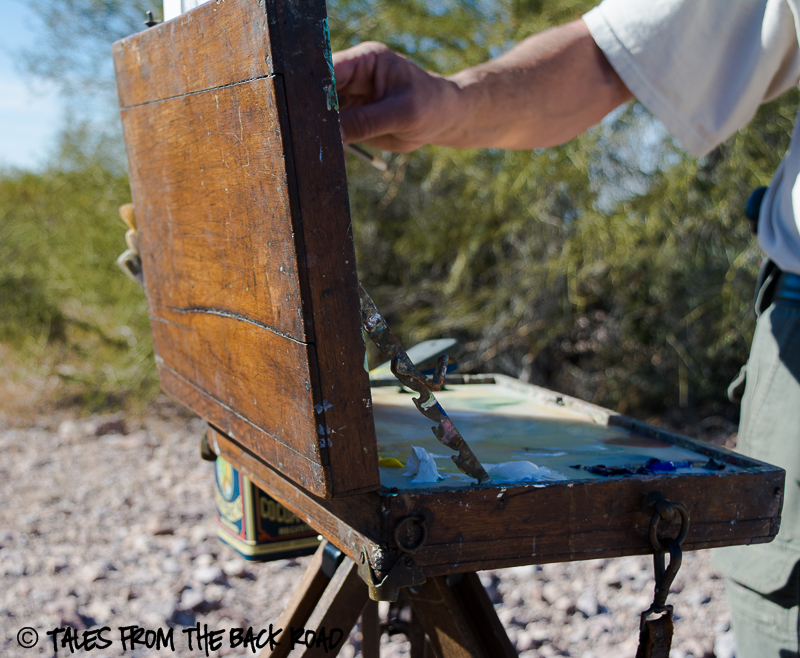 Painting in the desert