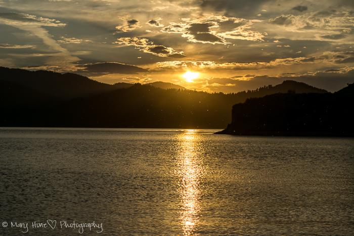 Sunset over the lake, Palisades Idaho