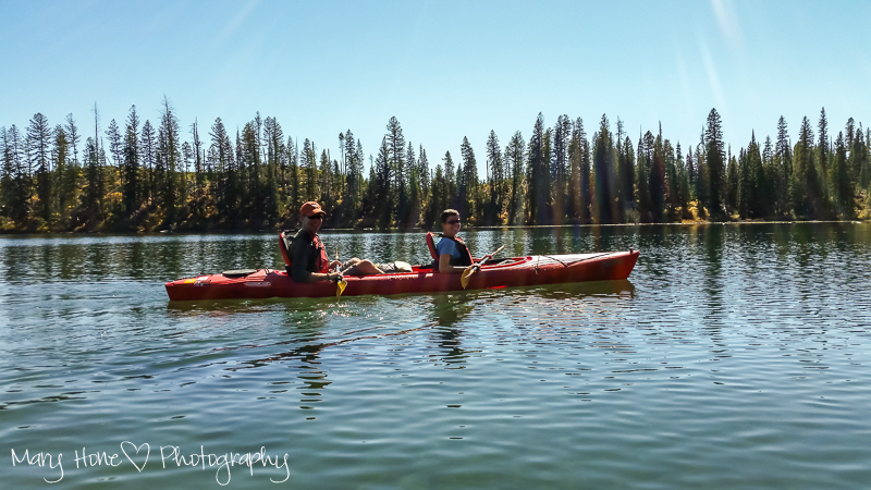 Oh, the fun we have had. Kayaking String lake Grand Teton NP