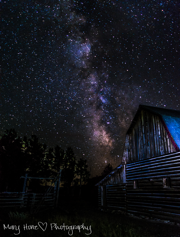 Milky way over the Moulton barn, It's in the stars