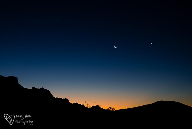 moon rise on the KOFA national wildlife refuge
