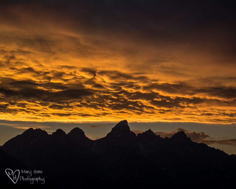 sunset over the tetons. I Love Me Some Wyoming
