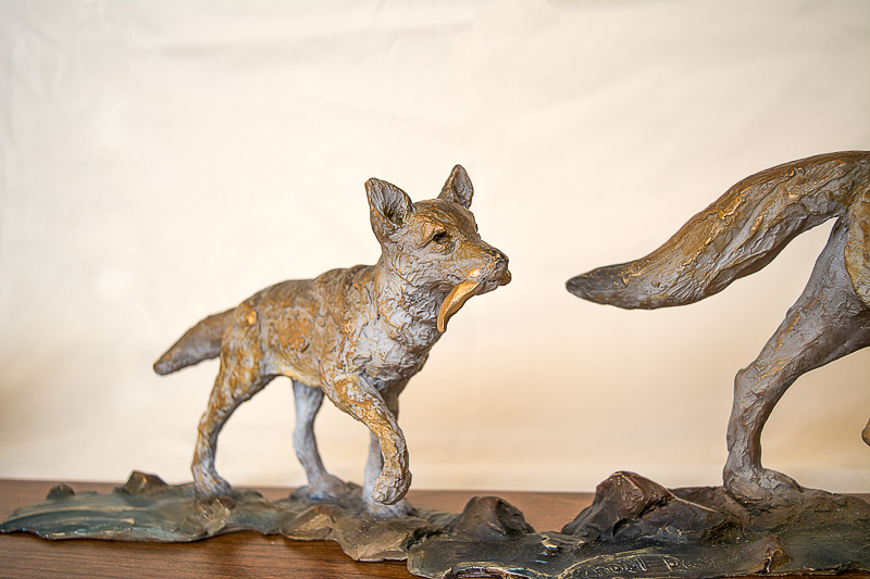 coyote sculpture al hone
