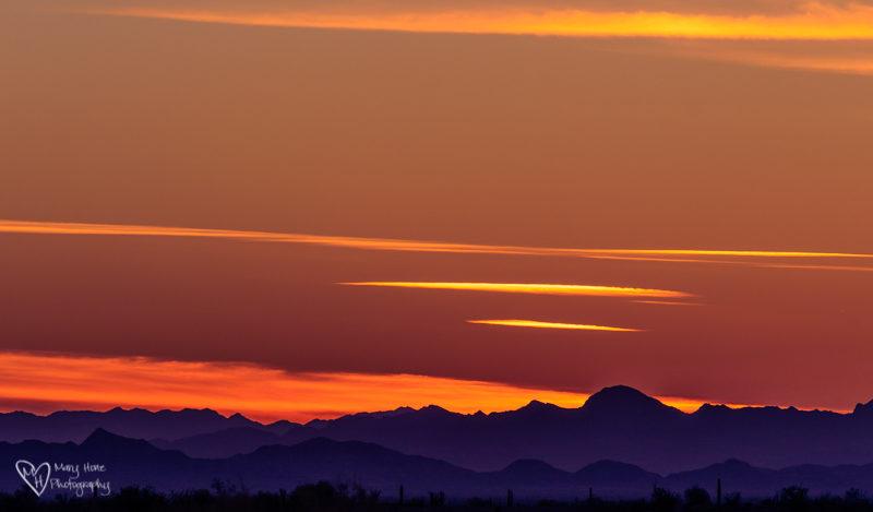 split toning a sunset