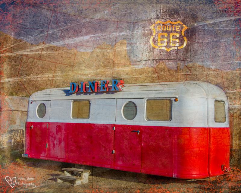 Vintage diner trailer