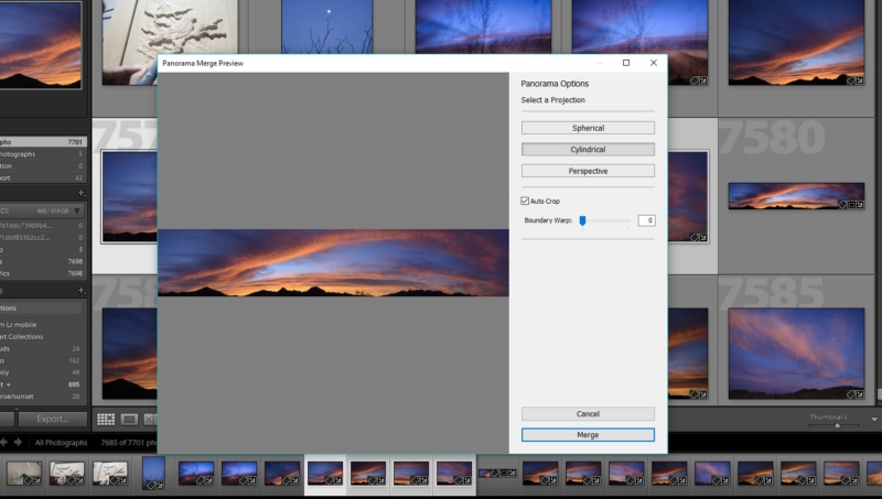 creating a panorama in lightroom
