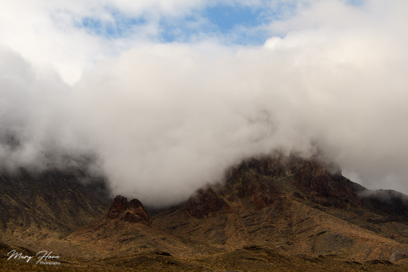 cloudy desert canyon