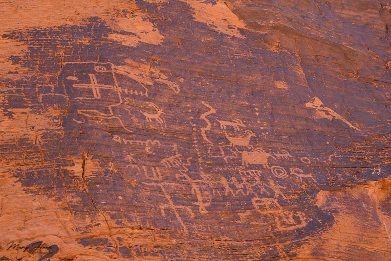 Valley of fire petroglyphs