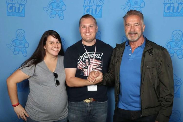 Photo op with Arnold Schwarzenegger