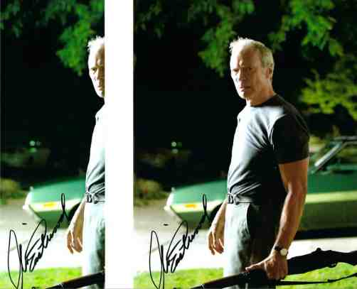 side-by-side comparison of pre-printed signatures sent by Clint Eastwood.