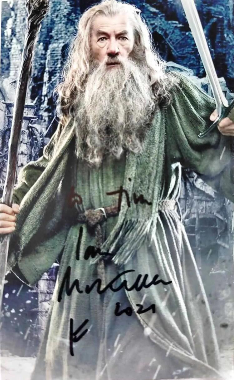 Signed photo of Ian McKellen