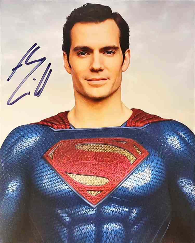 Photo signed by Henry Cavill obtained TTM.