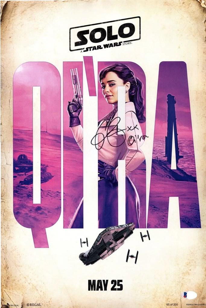 Signed photo by Emilia Clarke