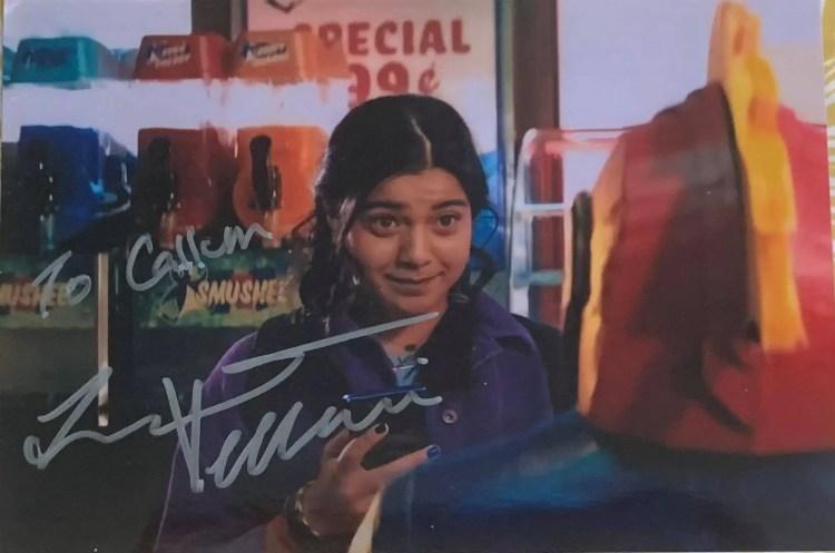 Ms. Marvel photo signed by Iman Vellani