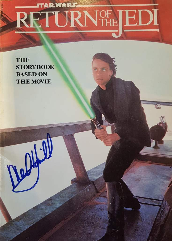Signed photo by Star Wars actor Mark Hamill