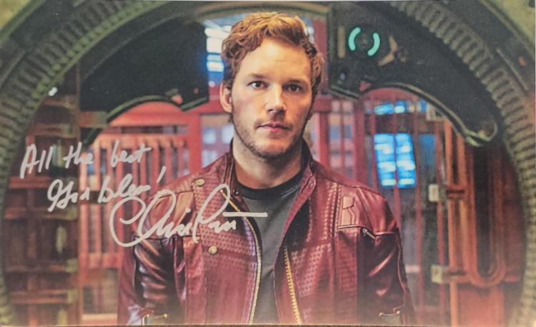 """Chris Pratt sent an autopen signature via venue from the set of """"Thor: Love and Thunder"""""""