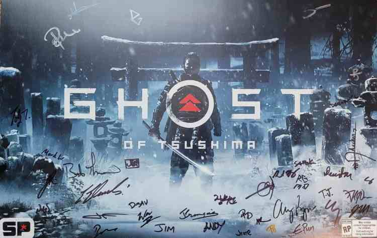 Signed Ghost of Tsushima Art Print Autographed by the development team
