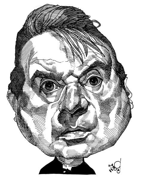 Francis Bacon by Trog. First published in The Observer © Wally Fawkes